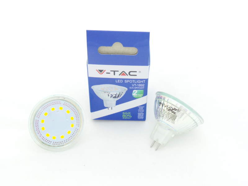 V-TAC FARETTO 12V GU5.3 MR16 LED 3W SKU 1648-1649-1650
