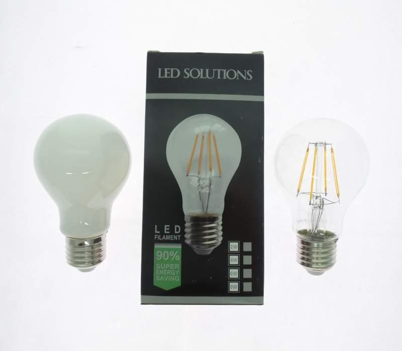 LAMPADINA E27 BULBO 4W LED FILAMENTO
