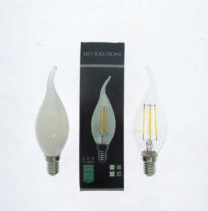 LAMPADINA E14 CANDELA SOFFIO DI VENTO 4W LED FILAMENTO