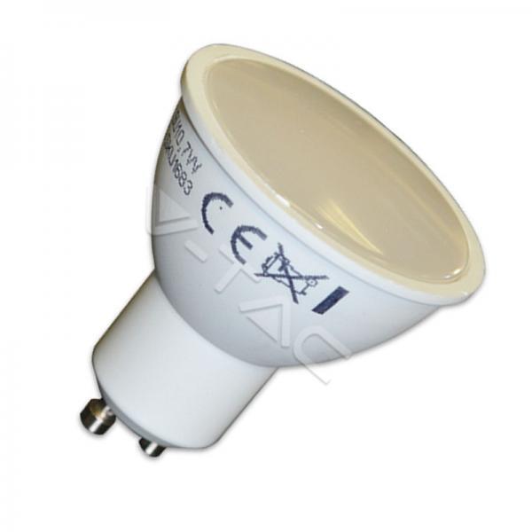 V-TAC LAMPADA LAMPADINA LED FARETTO GU10 5W 220V SMD5630 RAGGIO 110° LUCE CALDA-NATURALE-FREDDA SKU 1685-1686-1687