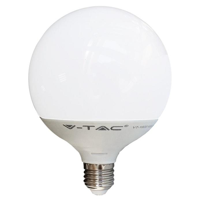 V-TAC LAMPADA LED E27 GLOBO G95 10W=60W LUCE CALDA-NATURALE-FREDDA SKU 4276-4277-4278