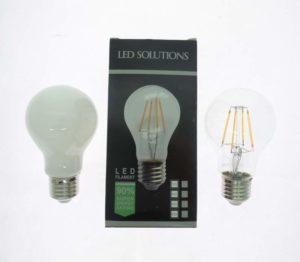 LAMPADINA E27 BULBO 8W LED FILAMENTO