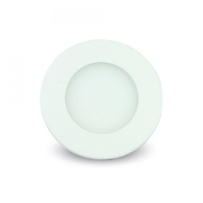 V-TAC PANNELLO LED ROTONDO DA INCASSO 3W=25W LUCE CALDA-NATURALE-FREDDA SKU 6292-6293-6294