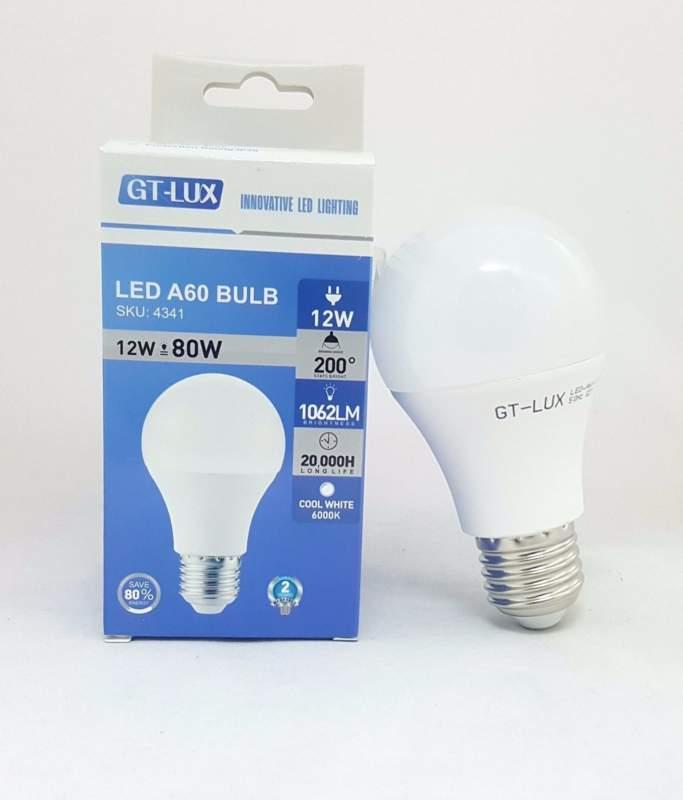 GT-LUX  LAMPADA LAMPADINA BULBO A60 LED E27 12W = 80W LED CALDA-NATURALE-FREDDA SKU 4339-4340-4341