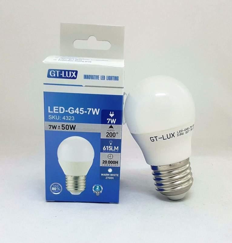 GT-LUX LAMPADA LAMPADINA BULBO G45 LED E27 7W = 50W LED CALDA-NATURALE-FREDDA SKU 4323-4324-4325