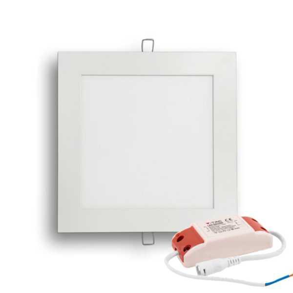 V-TAC PANNELLO LED 12W QUADRATO SMD BIANCO CALDO-NATURALE-FREDDO SKU 4866-4867-4868
