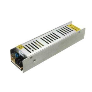 V-TAC ALIMENTATORE TRASFORMATORE STRIP STRISCE LED 120W 12V 10A IP20 CORPO SLIM METAL SKU 3226